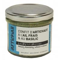 artichail confit d'artichaut à l'ail frais et au basilic