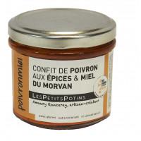 confit de poivron aux épices et miel du morvan