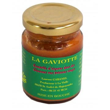 Compotée d'oignons doux des Cevennes au poivron rouge