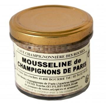 Mousseline de champignons de Paris au piment d'Espelette