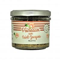 Rillettes de poireaux aux Saint Jacques
