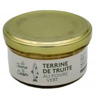 Terrine de truite au poivre vert