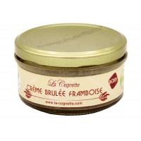 Crème brulée à la framboise