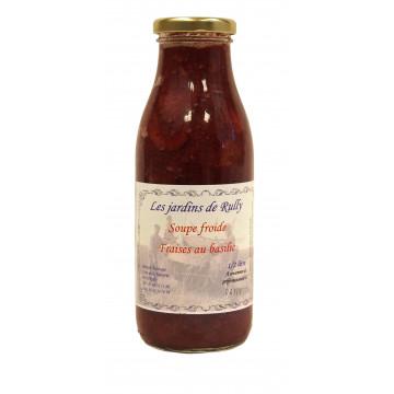 Soupe froide de Fraise au Basilic